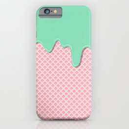Mint Strawberry iPhone Case