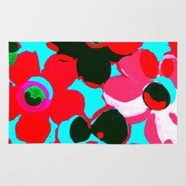 Fashion Floral  print  design painting fashion Rug