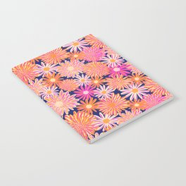 Daisy And Aster Flowers Notebook