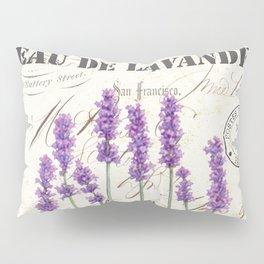 Lavender Antique Rustic Flowers Vintage Art Pillow Sham