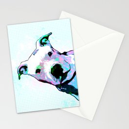Pit bull - Puzzled - Pop Art Stationery Cards