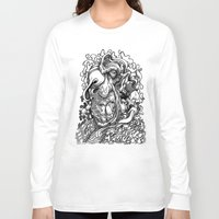 snoopy Long Sleeve T-shirts featuring Ronald Furbdwab Gets A Little Snoopy by PRESTOONS / Art by Dennis Preston