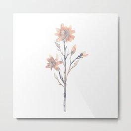 Minimal Ink Floral #3 Metal Print