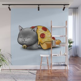 Purrpurroni Pizza Wall Mural