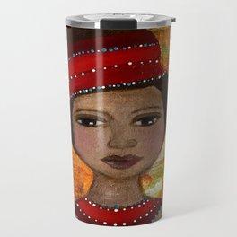 Imara Original Painting by Krista J. Brock Travel Mug