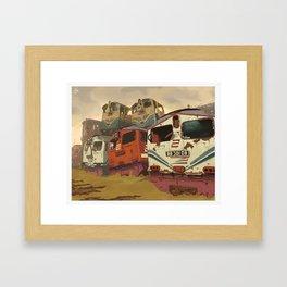 Train Graveyard Framed Art Print
