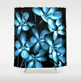 Wildflowers In The Night Light Shower Curtain
