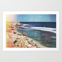 dolphins Art Prints featuring Dolphins by Mermaid's Coin Surf Art * by Hannah Kata