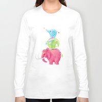 elephants Long Sleeve T-shirts featuring Elephants by Freeminds