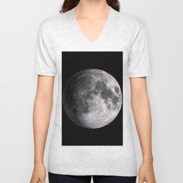 The Full Moon Super Detailed Print Unisex V-Neck
