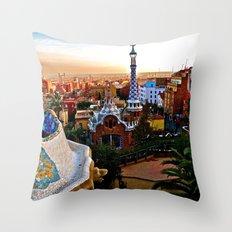Barcelona - Gaudí's Park Güell Throw Pillow