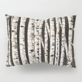 Nighttime in the birch Pillow Sham
