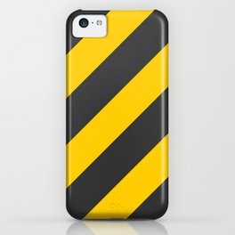Stripes Diagonal Black & Yellow iPhone Case