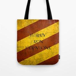 Golden Trio + Deathly Hallows Tote Bag