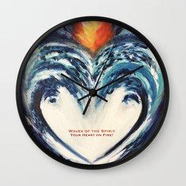 light wave heart fire Wall Clock