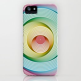 Shifting Circles iPhone Case