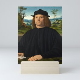 Portrait of Giovanni Cristoforo Longoni by Andrea Solario Mini Art Print