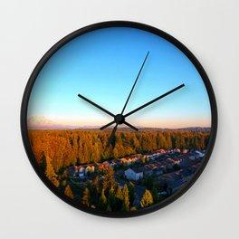 Mt. Rainier and the Moon Wall Clock