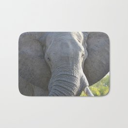 Elephant Up Close and Personal Bath Mat