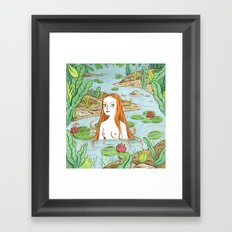Lady of the pond Framed Art Print