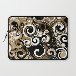 Coffee Swirls Laptop Sleeve