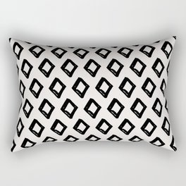 Modern Diamond Pattern 2 Black on Light Gray Rectangular Pillow