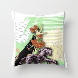 RIDING HORSE Throw Pillow