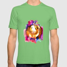 Guinea Pig in Flower Crown T-shirt