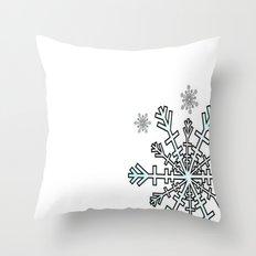 Minimalistic Snowflake Christmas Throw Pillow