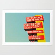 Sonny Bryan's Smokehouse Art Print