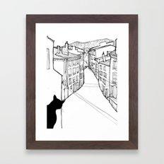 provence's cat Framed Art Print