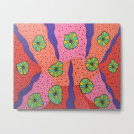 Detailed Colorful Art with Funky Vibes Metal Print