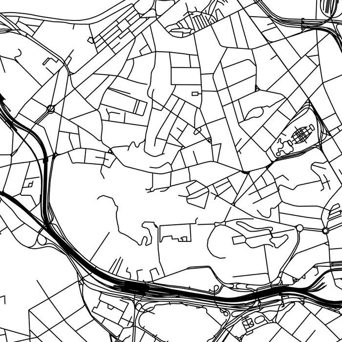 Rio De Janeiro White Map Leggings