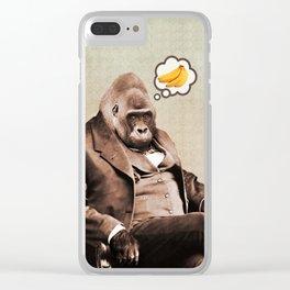 Gorilla My Dreams Clear iPhone Case