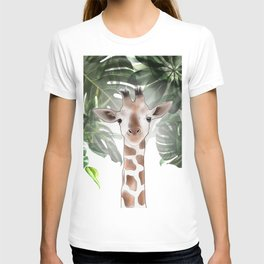 Giraffe in the trees. T-shirt