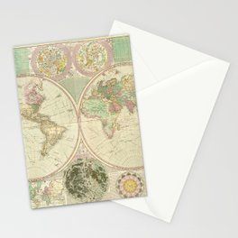 World Map by Carington Bowles (circa 1780) Stationery Cards