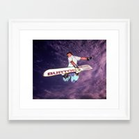 snowboarding Framed Art Prints featuring Snowboarding #2 by Bruce Stanfield