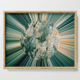Abstract sun Serving Tray