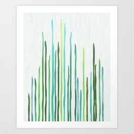 Under The Sea - abstract botanical Art Print