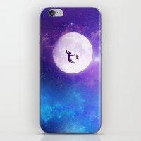 peter pan iPhone & iPod Skins featuring Peter Pan by Nikita Gill