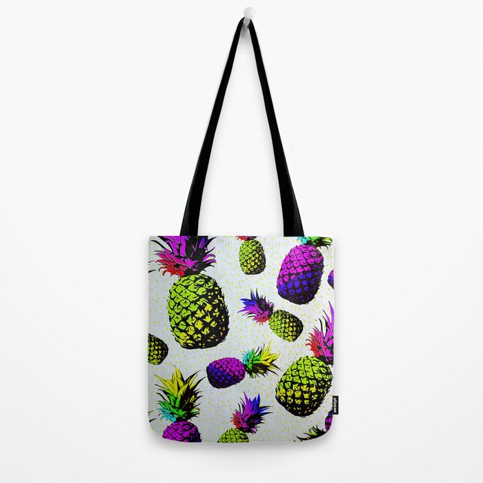 colorful pineapple pattren Tote Bag