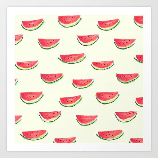 Watercolor Watermelon Art Print