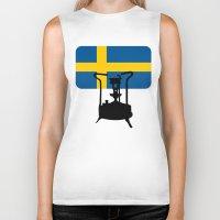 sweden Biker Tanks featuring Sweden flag | Pressure stove by mailboxdisco