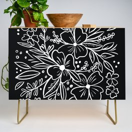 Chalk Florals Credenza