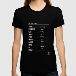 Lab No. 4 - Fill in the blanks.. Exercise timetable schedule Inspirational Quotes Poster T-shirt