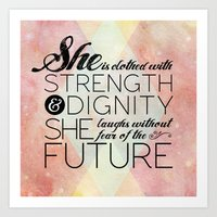 pocketfuel Art Prints featuring Proverbs 31 She is...  by Pocket Fuel