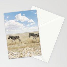 Zebra on African Savannah Stationery Cards