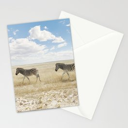 Zebra on African Savannah Stationery Cards