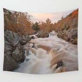 Great Autumn Falls Wall Tapestry