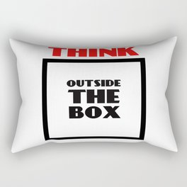 Think Outside The Box 2 Rectangular Pillow